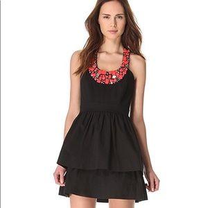 Shoshanna Beaded Allegra Black Dress NWT Size 4